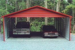 Boxed Eave Triple Wide Carport